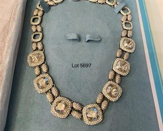 Lot 5697. $225.00. David Tutera Jessica Necklace. Lovely costume jewelry, perfect for that special occasion. Never been worn, with box. Retails for $349.00.