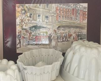 Shelley Pudding Molds with John Thorne Watercolor