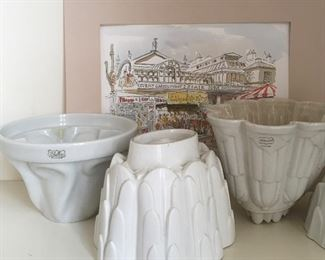 Shelley Pudding Molds with a John Thorne Watercolor