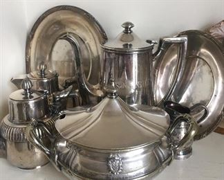 """Hotel and Restaurant """"Silver"""" Items includes """"The Saint Paul Hotel"""" Sauce Tureen"""