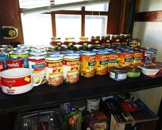 Kitchen:  Cans of Food, (A Lot of It)