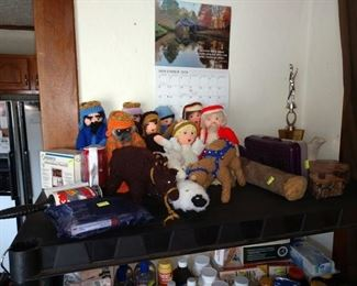 Dining Room:  Knitted People, Other Stuff