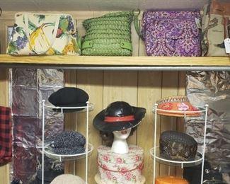 hats, handbags