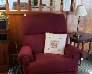 burgundy recliner