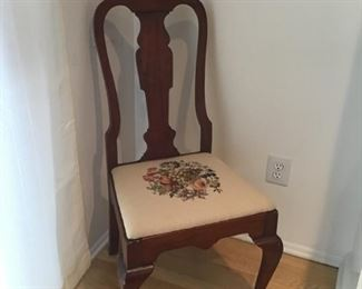 4 needlepoint chairs