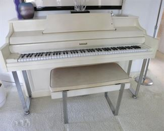 Retro Kimball Spinet w/ Chrome Legs!