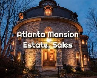 mansion estate logo white