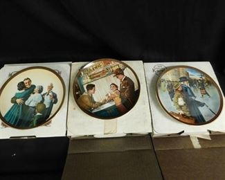 Normal Rockwell Collector Plates (3 ea)