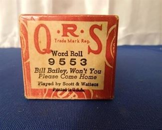 """QRS Player Piano Roll """"Bill Bailey Wont You Please Come Home"""""""