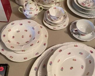 Shelley china, service for 12 with serving pieces
