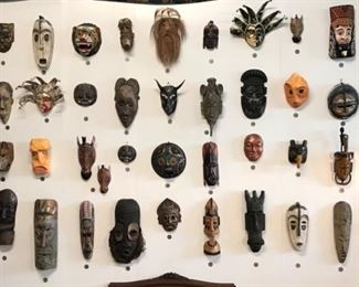 Lots of masks. Both artisan crafted and collected.
