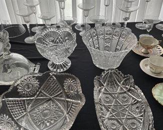 Pressed glass & cut glass