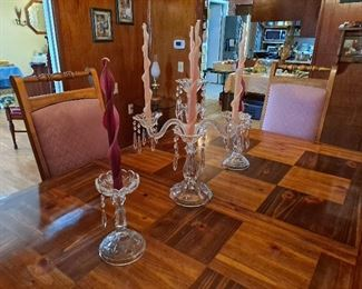 Candleholders With Prisms