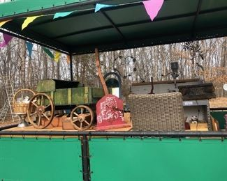Trailer full of Antique & Vintage Finds! Vending/Stage Trailer is for sale $5,000