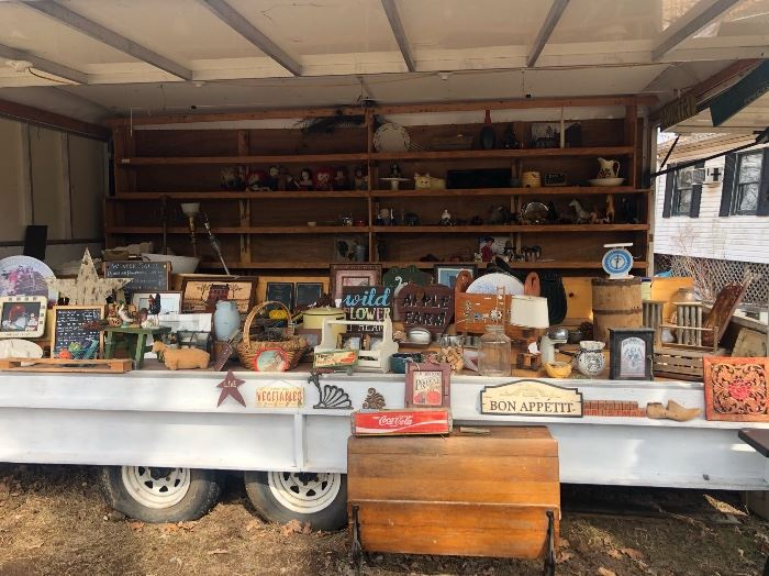 Trailer full of Antique & Vintage Finds! Vending/concession Trailer is for sale $3,000
