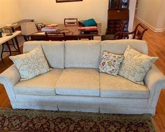"#4Cream Sofa 84"" Long $125.00"