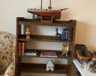 #5Tiger Oak Bookcase w/5 shelves   36x10x55T $75.00