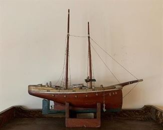 """#6Cedar Hand-made wooden Boat """"Eva"""" (W/story attached) $100.00"""