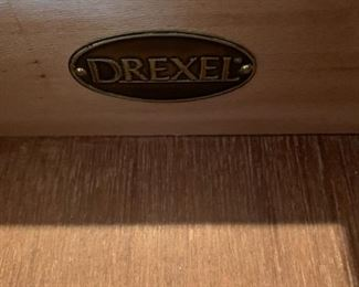 #11	Drexel Side Burled  w/5 Drawers  w/inlaid Top  29x12x29	 $175.00