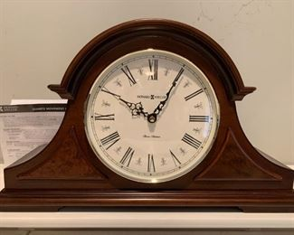 #26Howard Miller 3 chime Mantle Clock (battery operated) $40.00