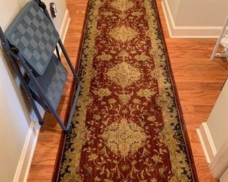 #36runner machine-made rug  28x130 $40.00