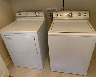 #37Maytag Century Washer w/agitator Model MVWC6ESWW $100.00  #38Maytag Dryer (right swing) PYET344AYW $100.00