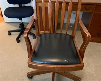 #44Old Wooden office Chair Works - adjustable $75.00