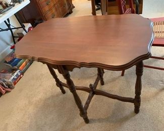#62End Table w/4 legs  32wx19dx29T $75.00