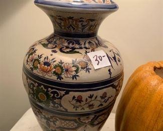 "#67Blue Ginge Jar Lamp 26"" Tall $30.00"
