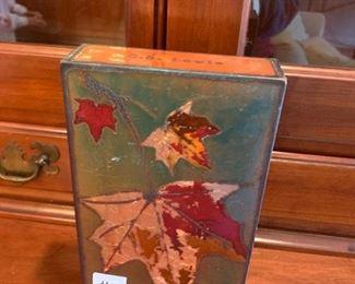 #75Houston llew Glass on Copper Art piece $30.00