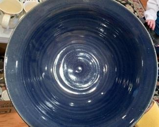#83Joe Williams Blue Hand-made Pottery - signed & stamped $30.00