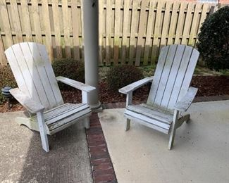#104(2) Pottery Barn Adirondack Chairs (as is )  sold as a set $60.00