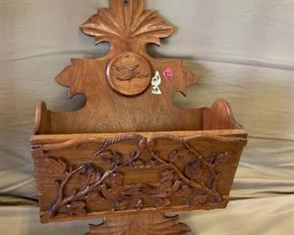 #139Wood Carved Box  $30.00