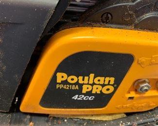 #149Poulan Pro 42CC Chainsaw w/case  $60.00