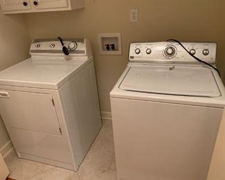 #37ApplianceMaytag Century Washer w/agitator Model MVWC6ESWW $100.00  #38ApplianceMaytag Dryer (right swing) PYET344AYW $100.00