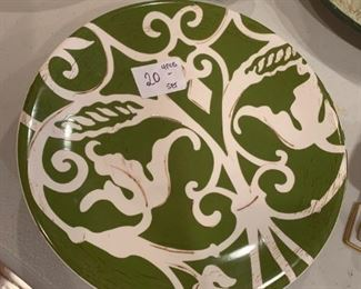 #154KitchenPier 1 Eartenware - salad plates set of 4 $ 20.00