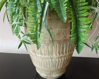 Terracotta  pot with plant $24