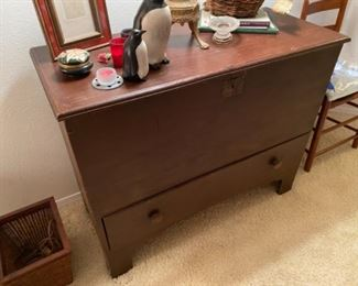 "9- $245 Primitive blanket chest 40 ½""L x 17""D x 32""D"