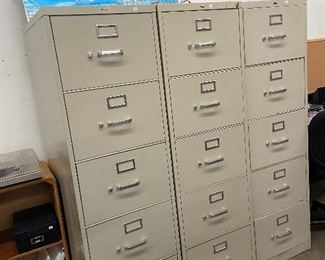 Great condition 5 drawer file cabinets