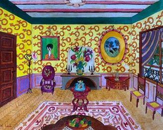 MICHEL LOEB Signed Oil Painting Artwork