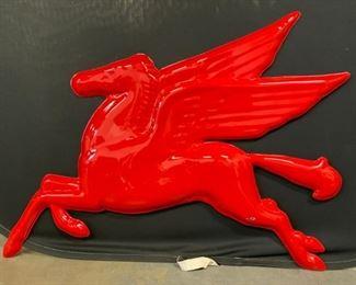 Vintage Composite MOBIL Pegasus Sign
