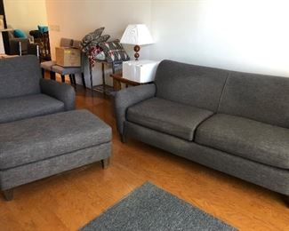 LAZYBOY SOFA, Oversized Chair and Ottoman $750