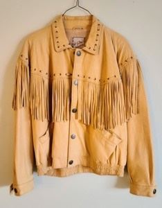 M. Julian Fringe Leather Jacket. Super soft leather! There is a small mark on the back as pictured. Men's size XL.