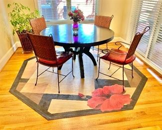 """$950 - Hudson contemporary dining table - 31""""H x 54""""D"""