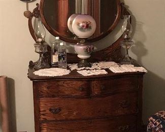 Wonderful antique dresser with mirror