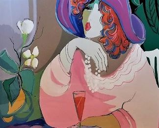 Maimon art...Champagne Girl 1990