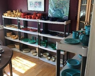 The Fiestaware has been spread out from the previous posted pictures! Note the hand painted picture!