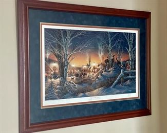 """$50.00.................""""Night on the Town"""" Exciting Memories of the Holiday Season by Terry Redlin 34"""" x 24""""   10754/29500 (H098)"""
