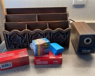 CLEARANCE !  $4.00 NOW, WAS $16.00..................Letter Holder, Electric Pencil Sharpener and more (H085)
