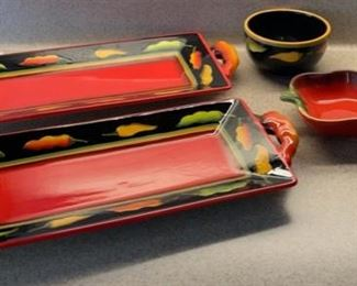 $6.00...................Hot Pepper Serving Dishes (H077)
